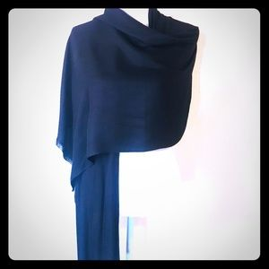 Accessories - Max Edition Black Rayon Large Rectangle Scarf